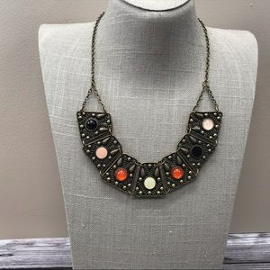 Jewelry - Bronze ethnic style bib statement necklace